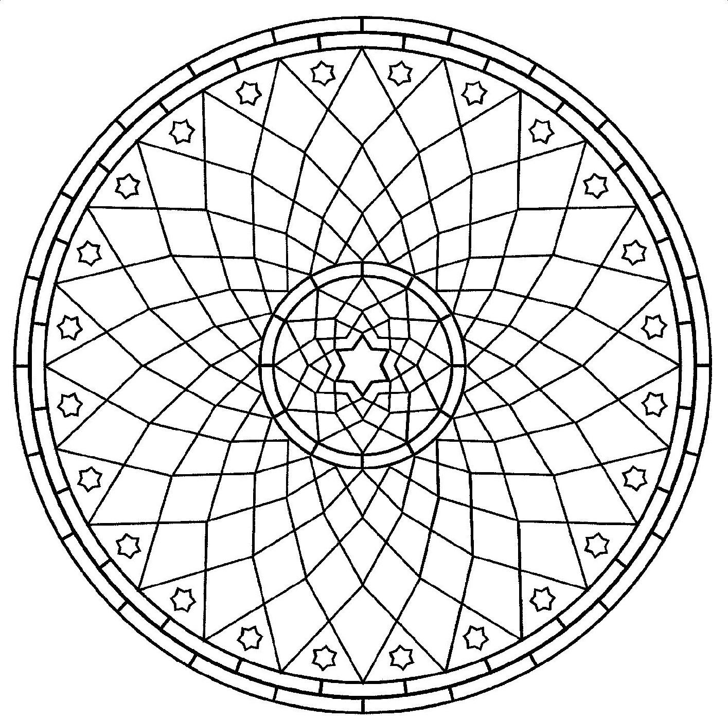 online mandala coloring circle 2