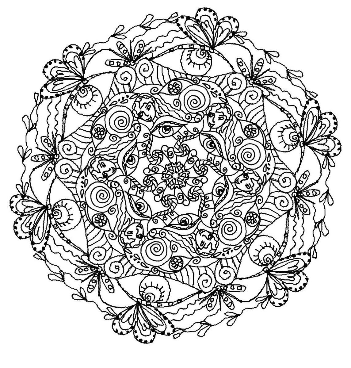 online mandala coloring circle 4