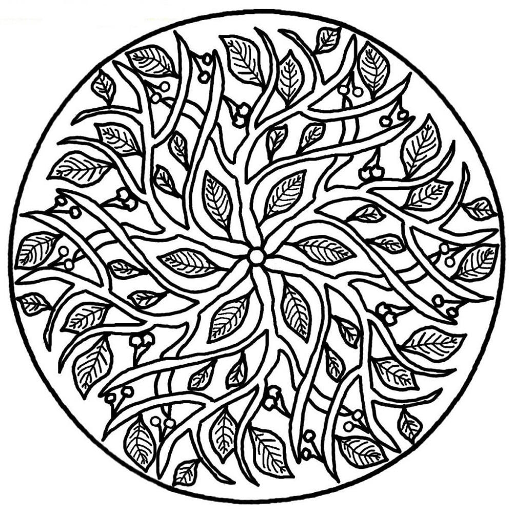 online mandala coloring circle 5