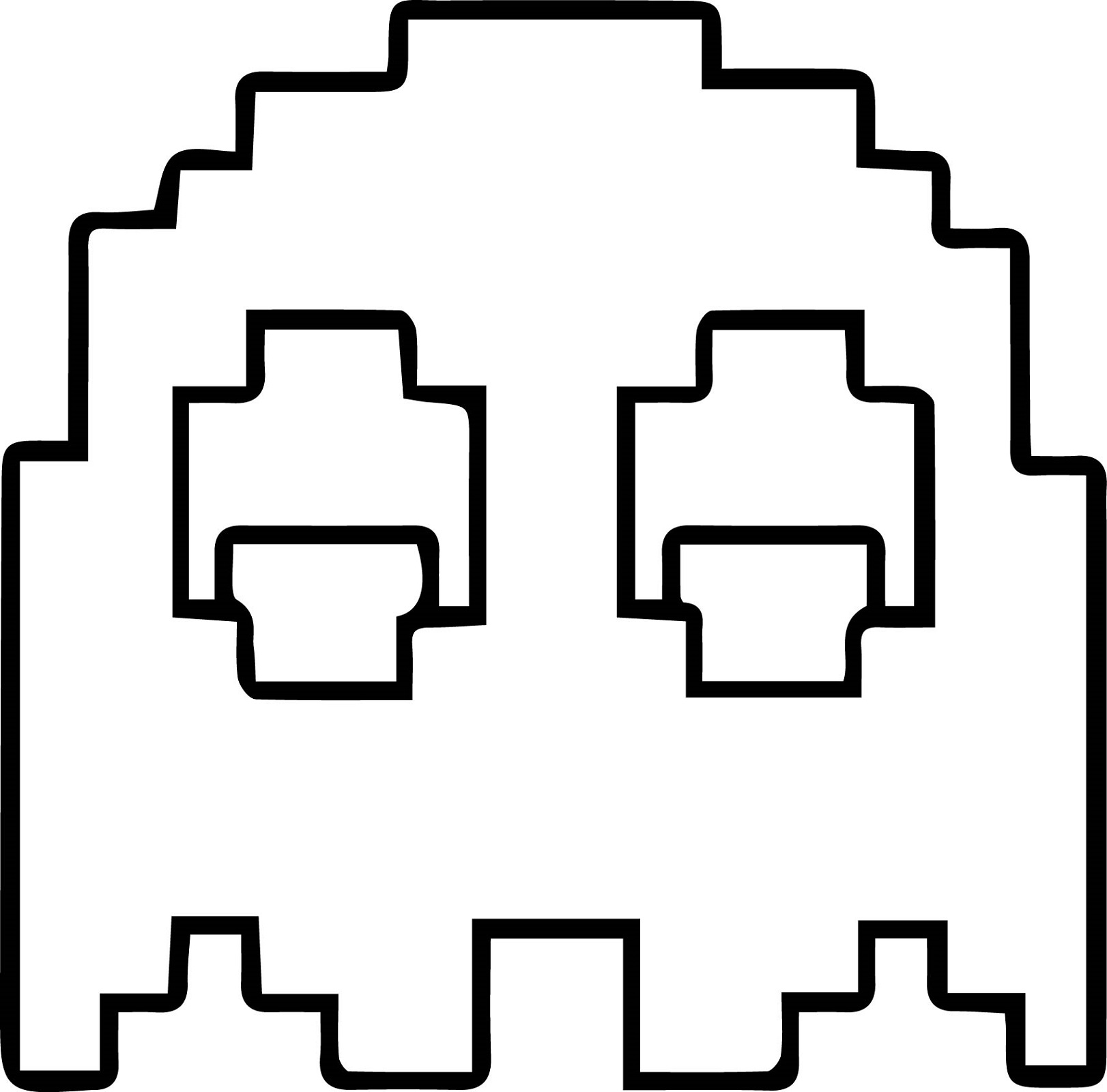 pacman coloring pages pacman mozaik