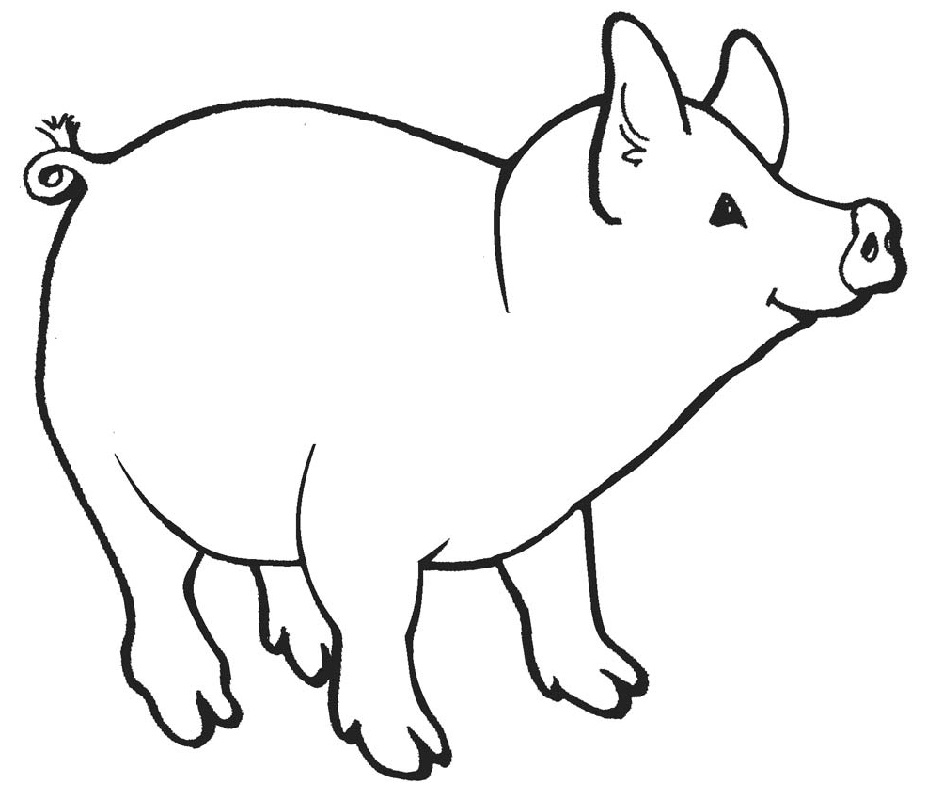 pig coloring pages baby pig