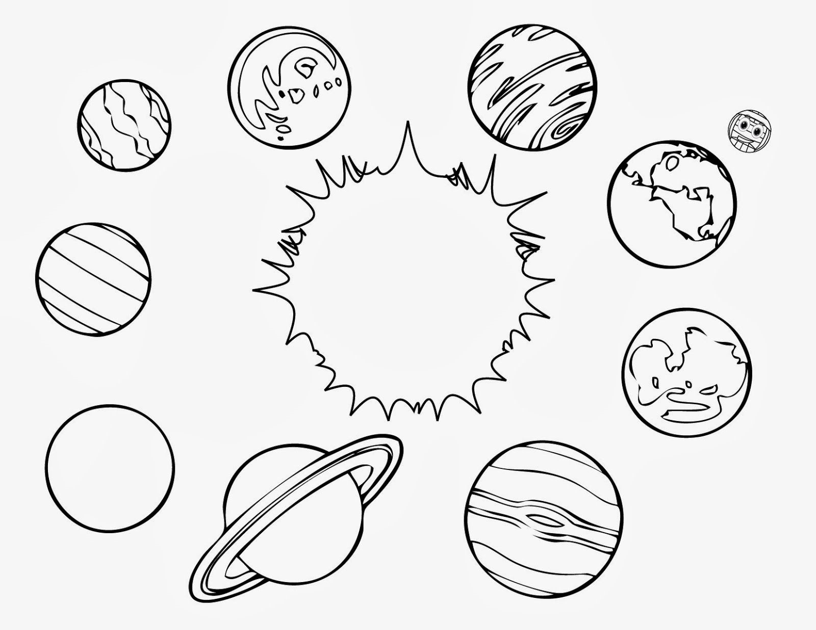 planet coloring pages 3