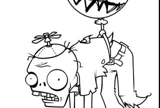 plants vs zombies coloring pages Baloon zombie