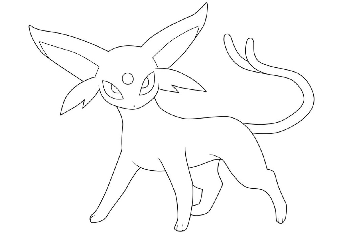 pokemon coloring pages eevee evolutions espeon