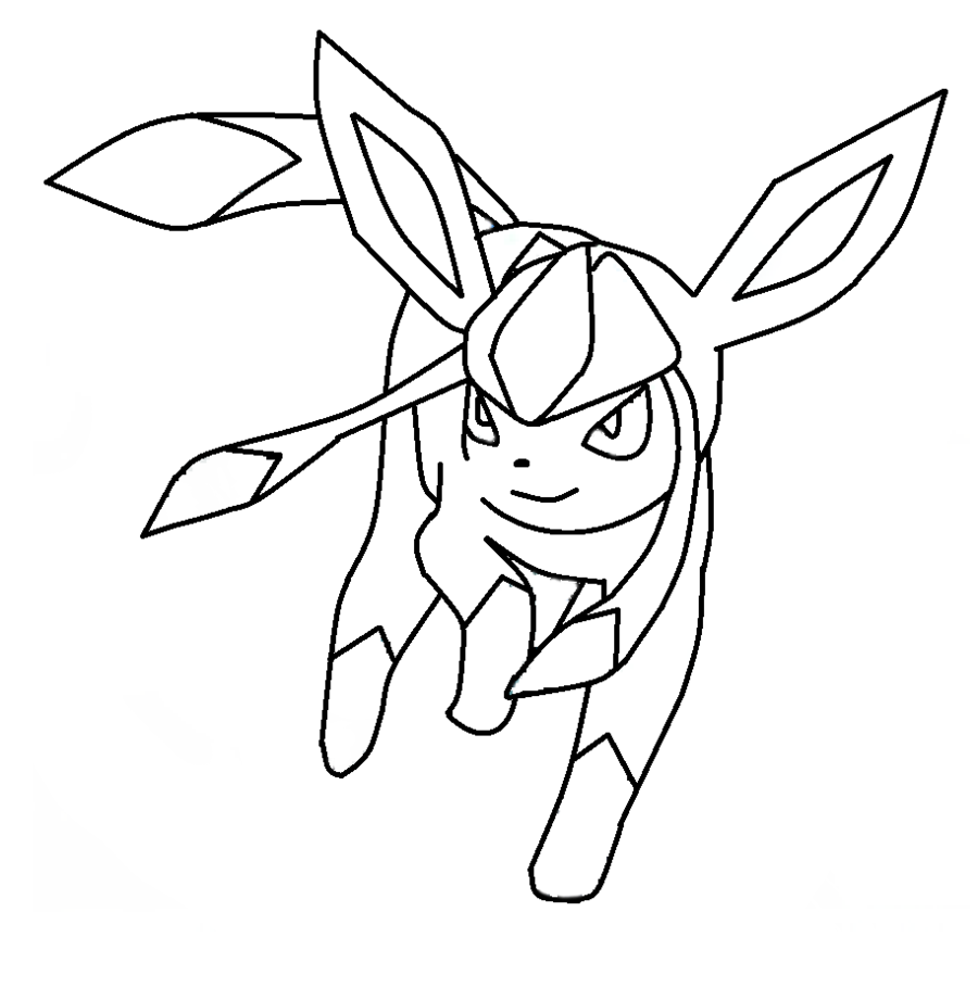 pokemon coloring pages eevee evolutions glaceo