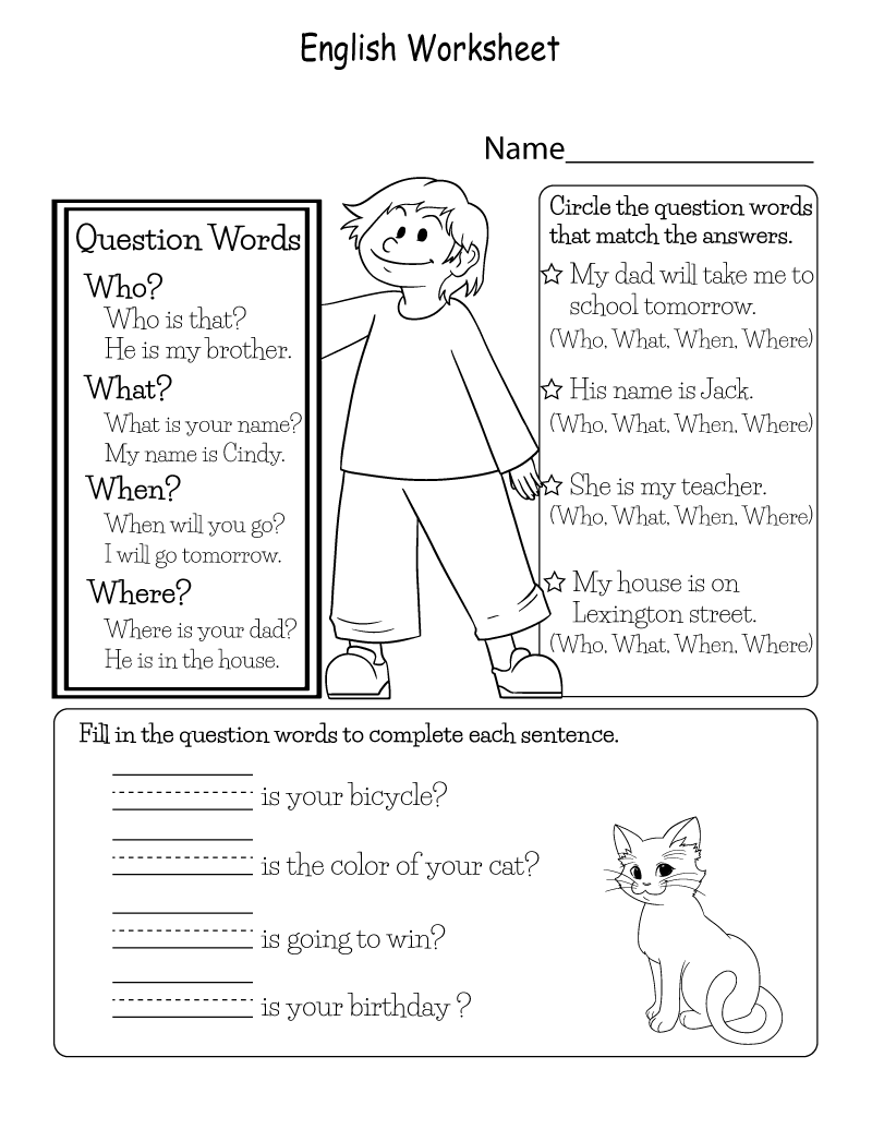 printable english worksheets 3
