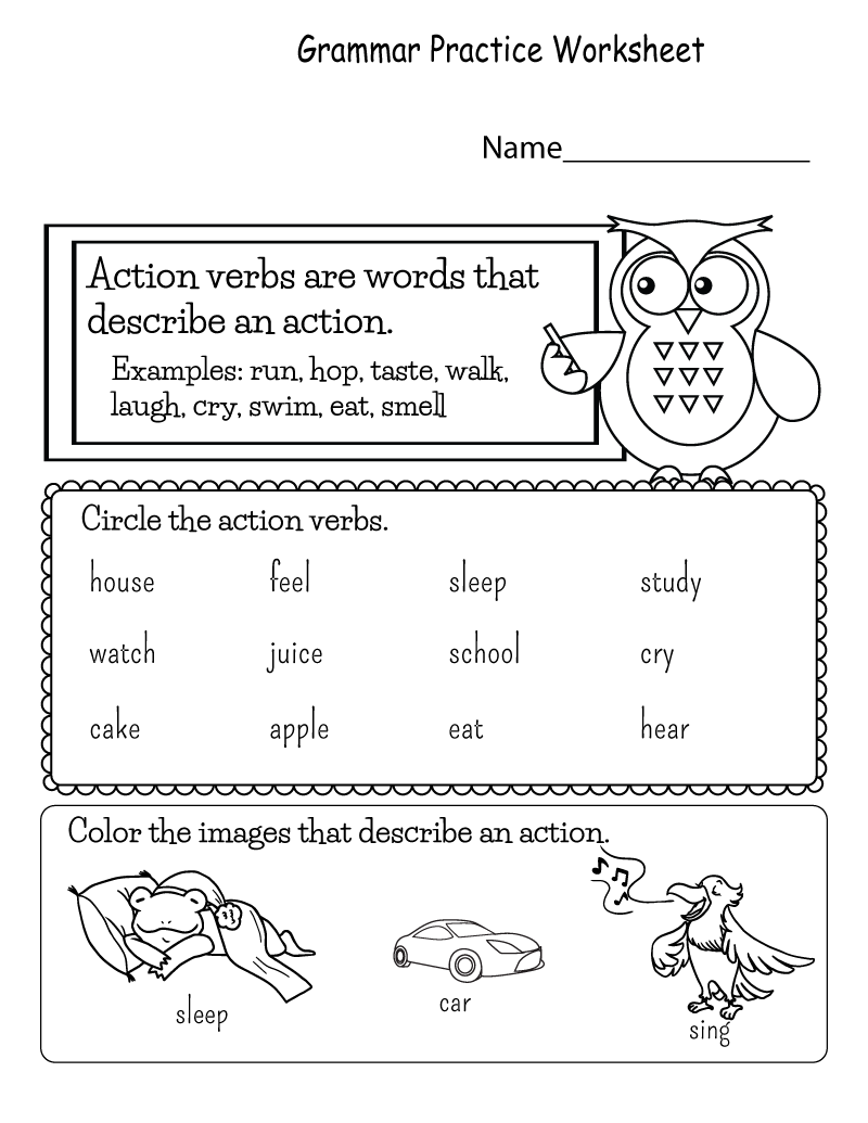 printable english worksheets 4