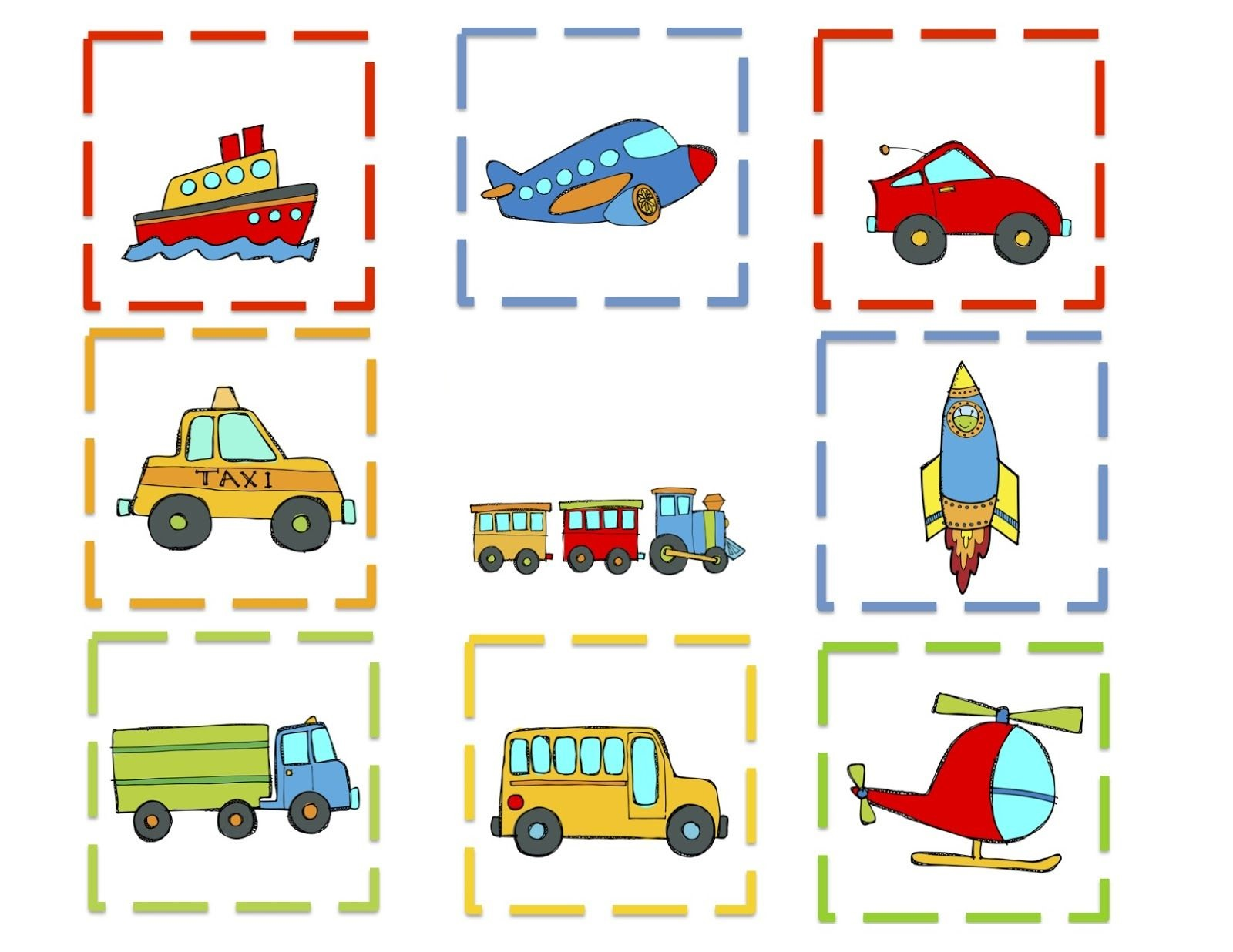 printable games for kindergarten games transportation