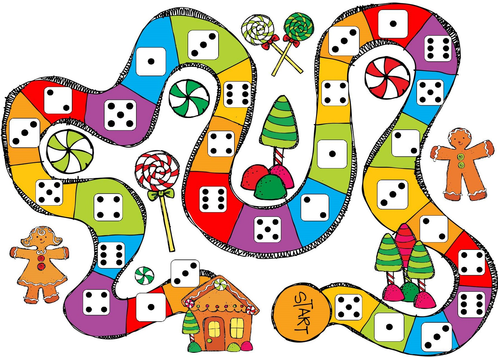 printable games for kindergarten snakes and ladders