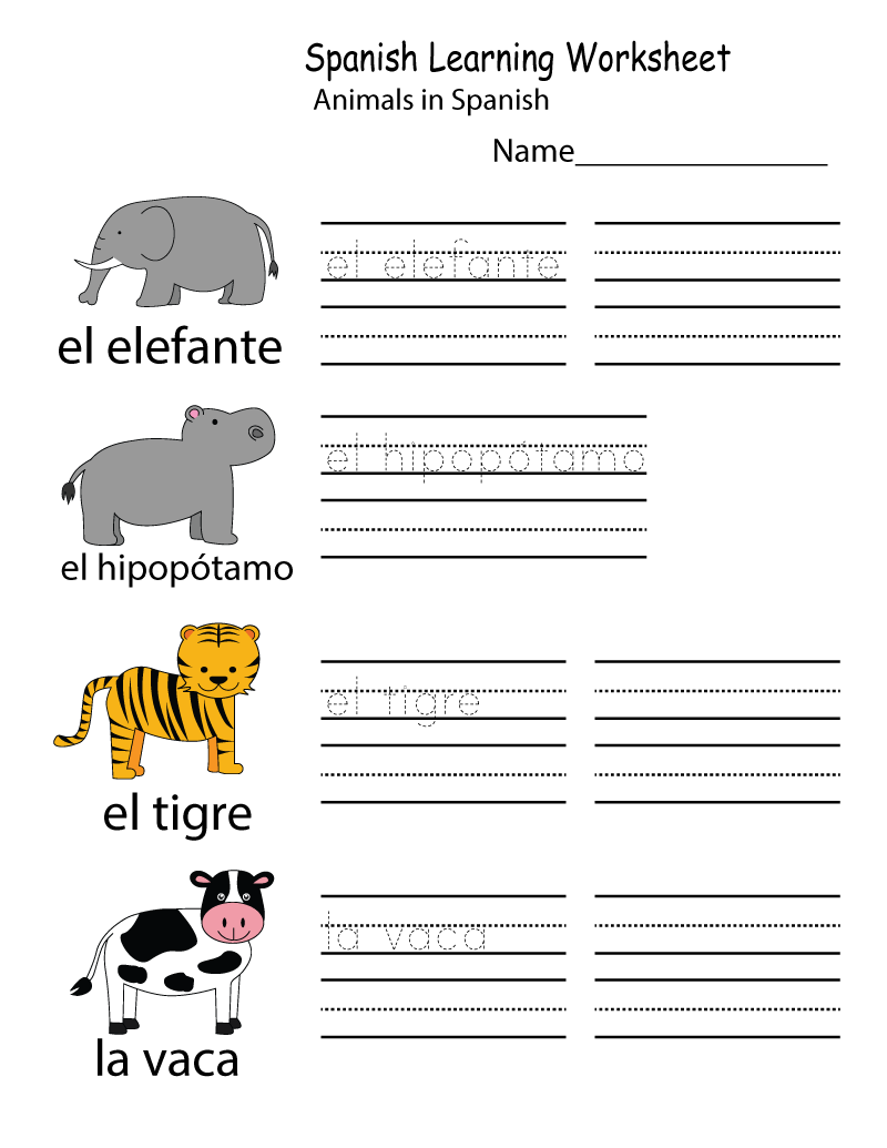 printable learning sheets five