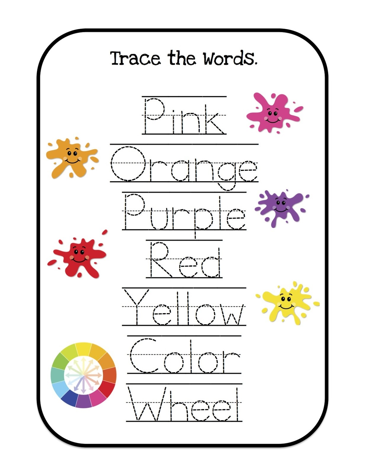 printable learning sheets two