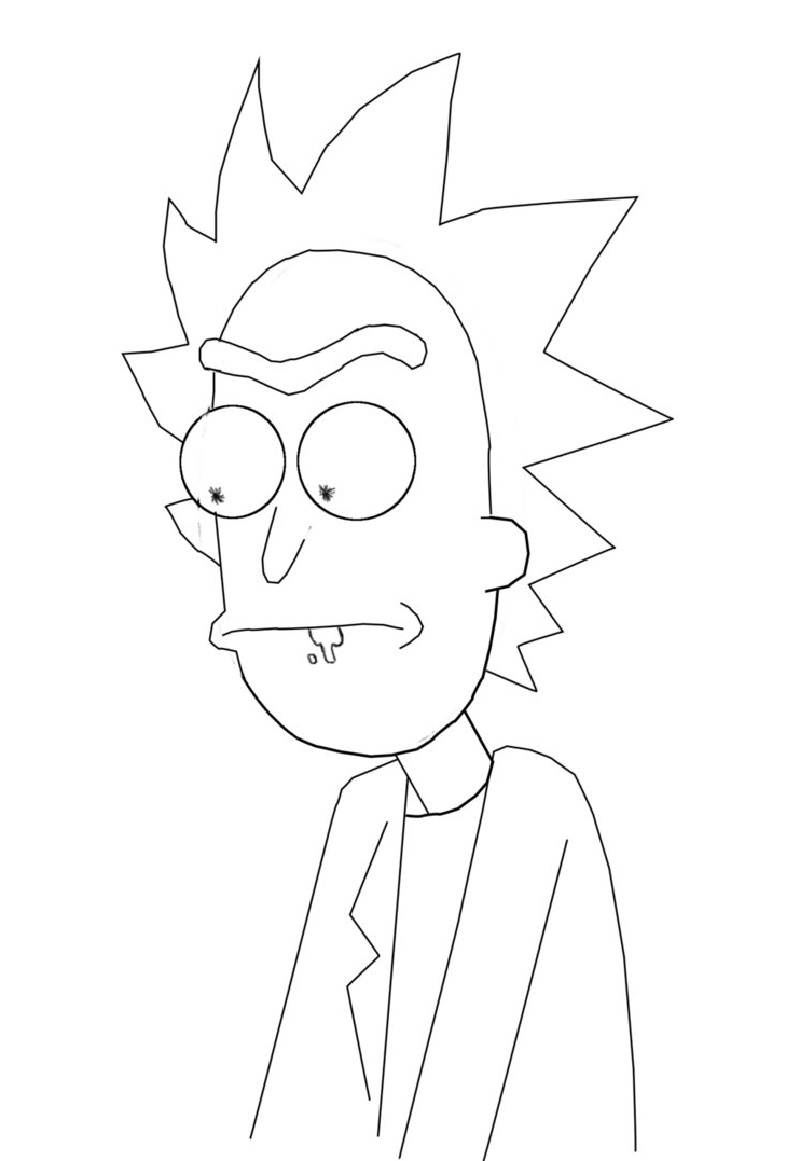 rick and morty coloring pages 3