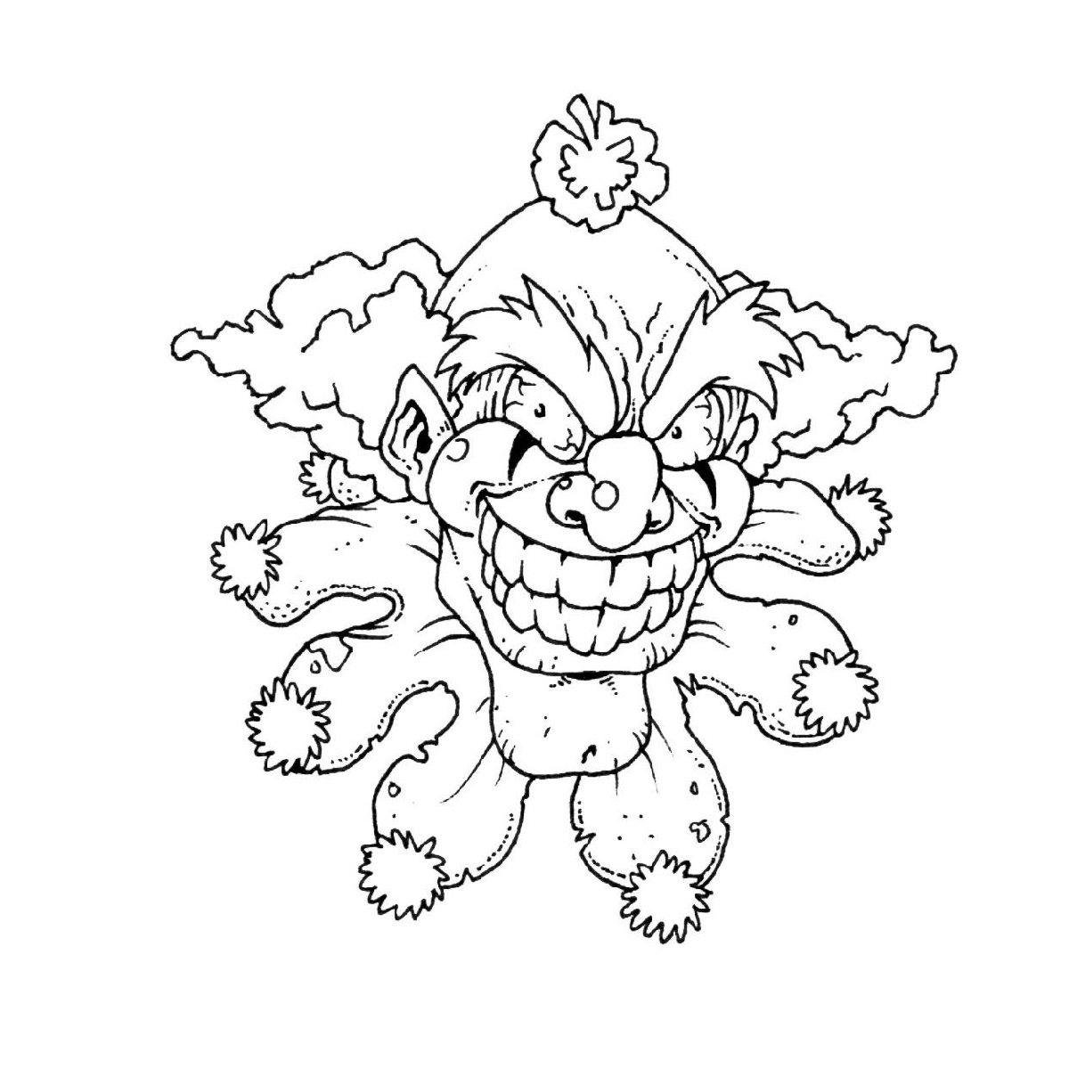 scary clown coloring pages 3