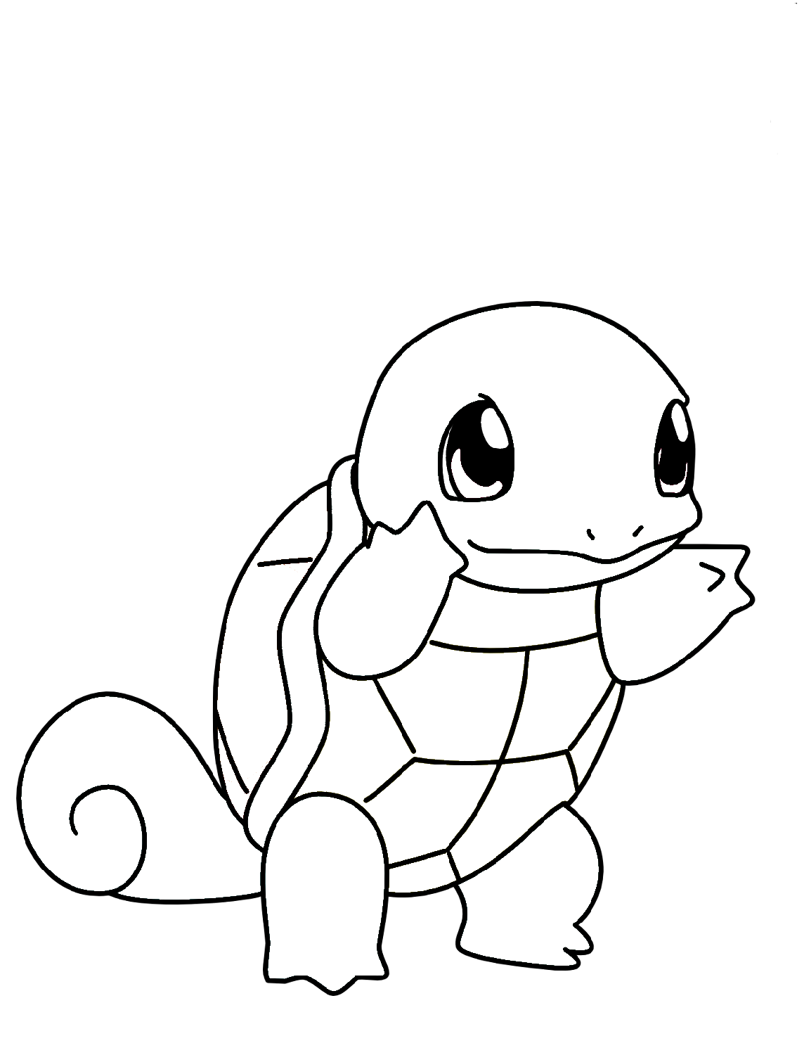 squirtle coloring pages pokemon