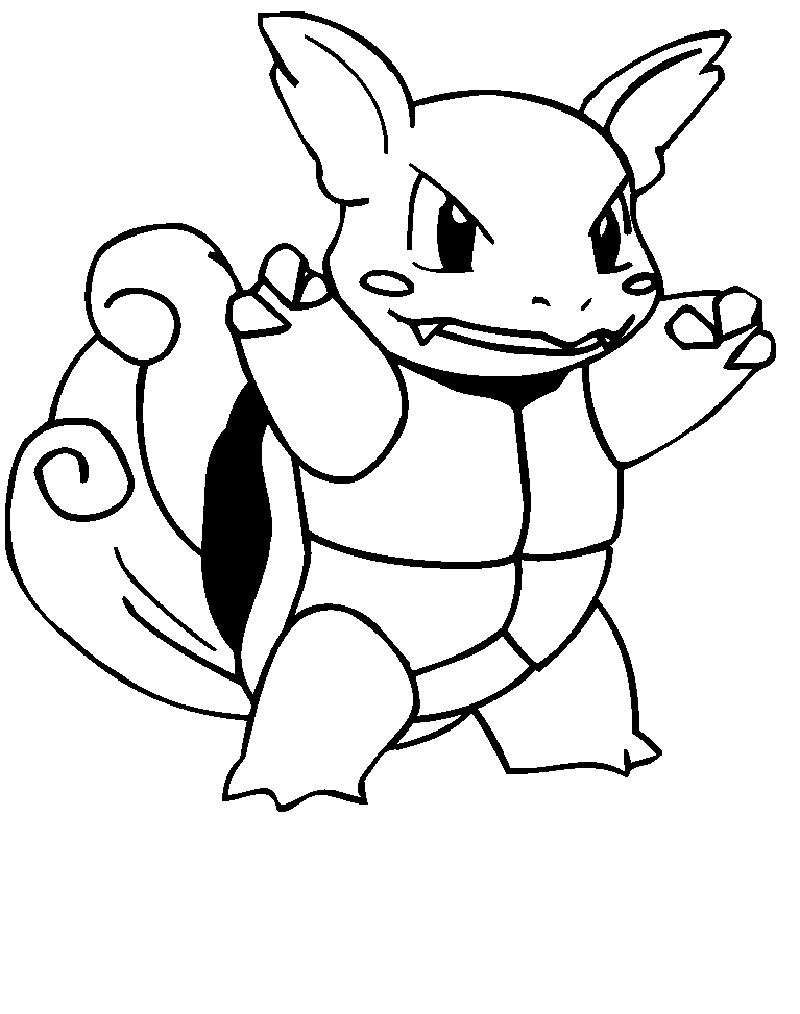 squirtle coloring pages waltortle