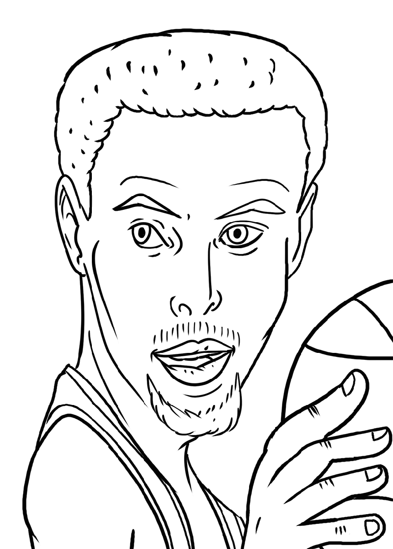 stephen curry coloring pages stephen