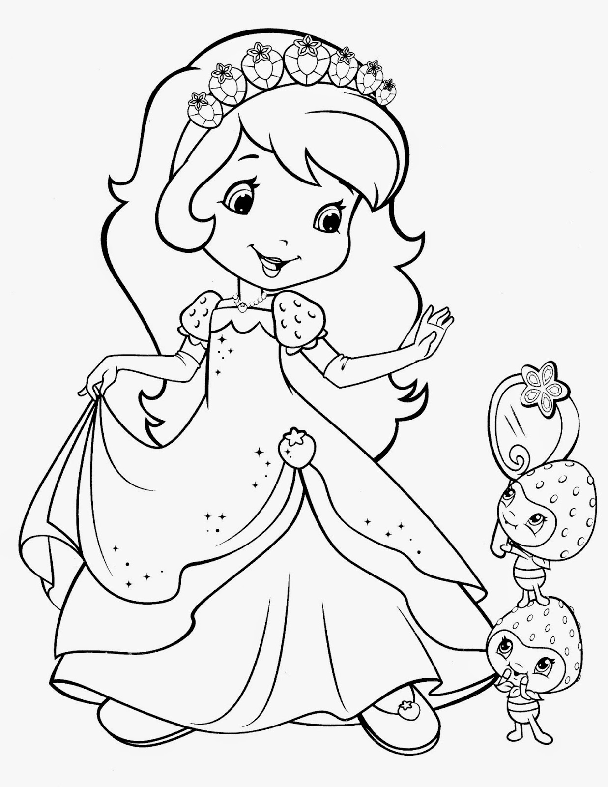 strawberry shortcake coloring pages 2
