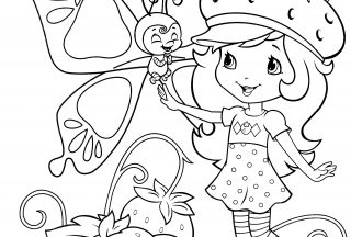 strawberry shortcake coloring pages 3