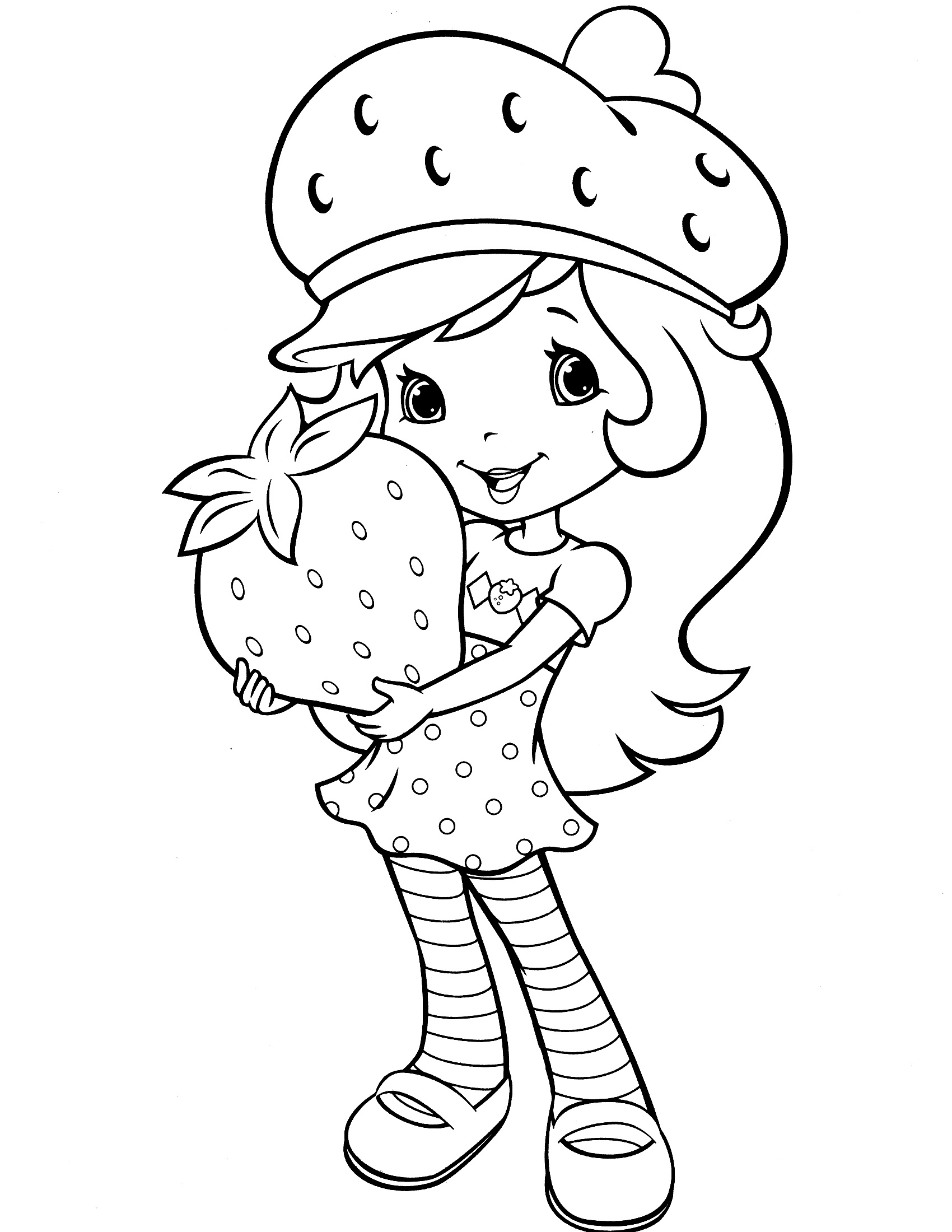 strawberry shortcake coloring pages 4