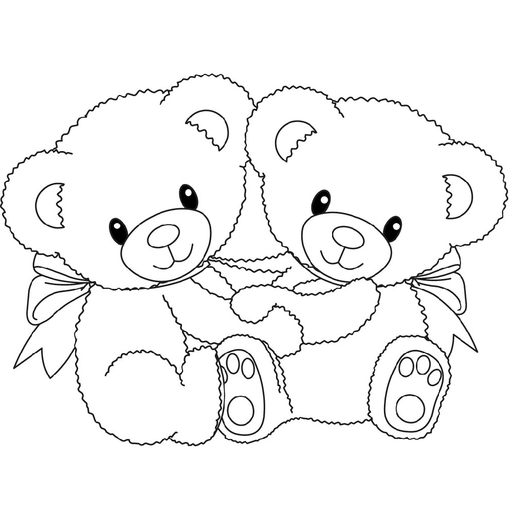 teddy bear coloring pages bestfriend