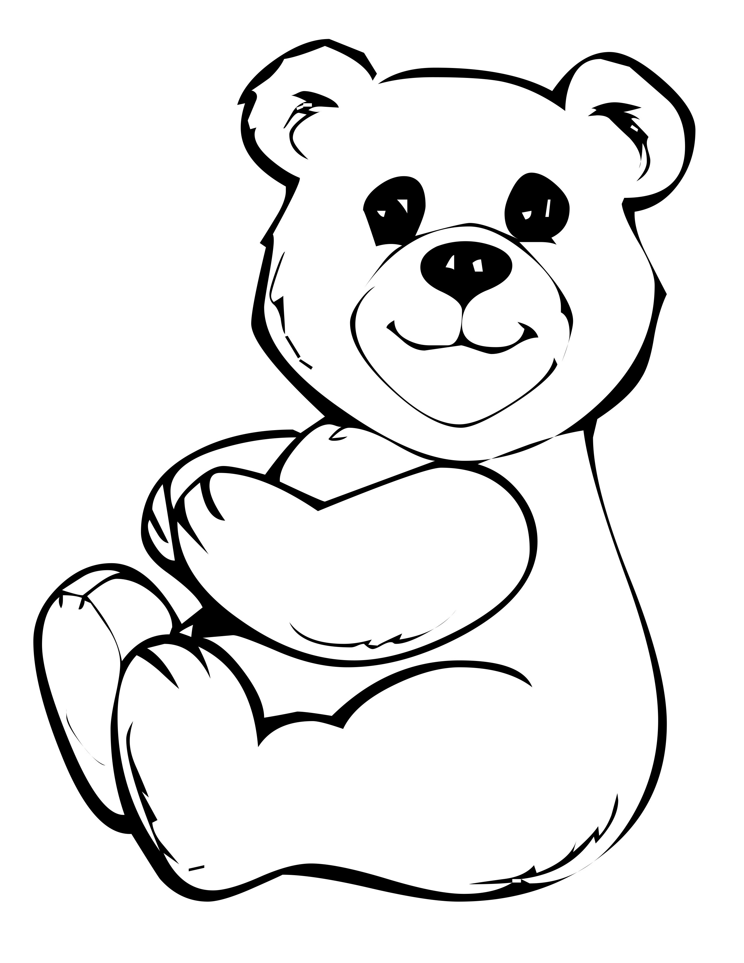 teddy bear coloring pages cutes