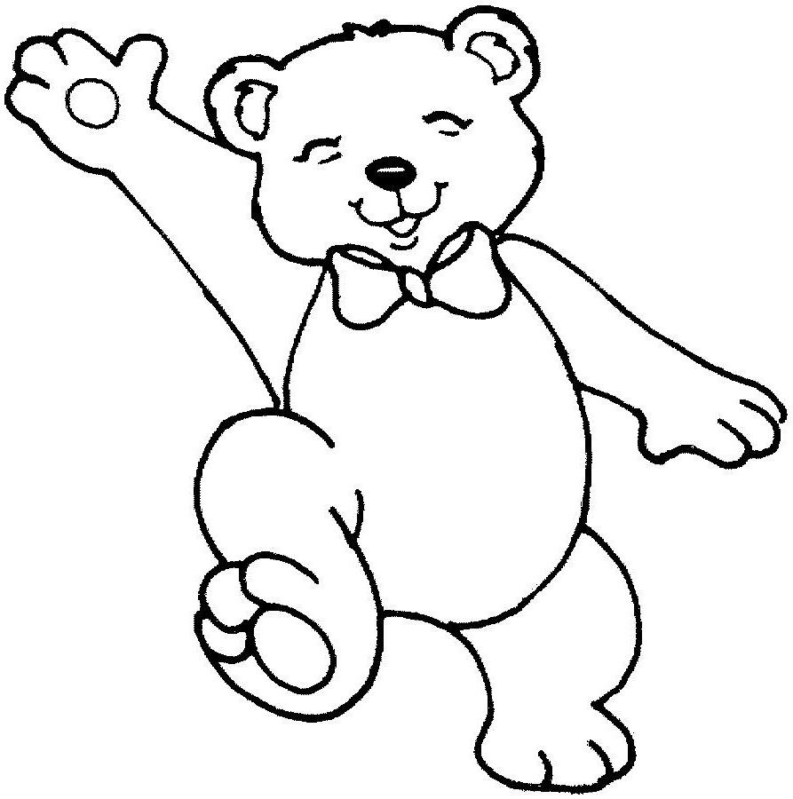 teddy bear coloring pages happy