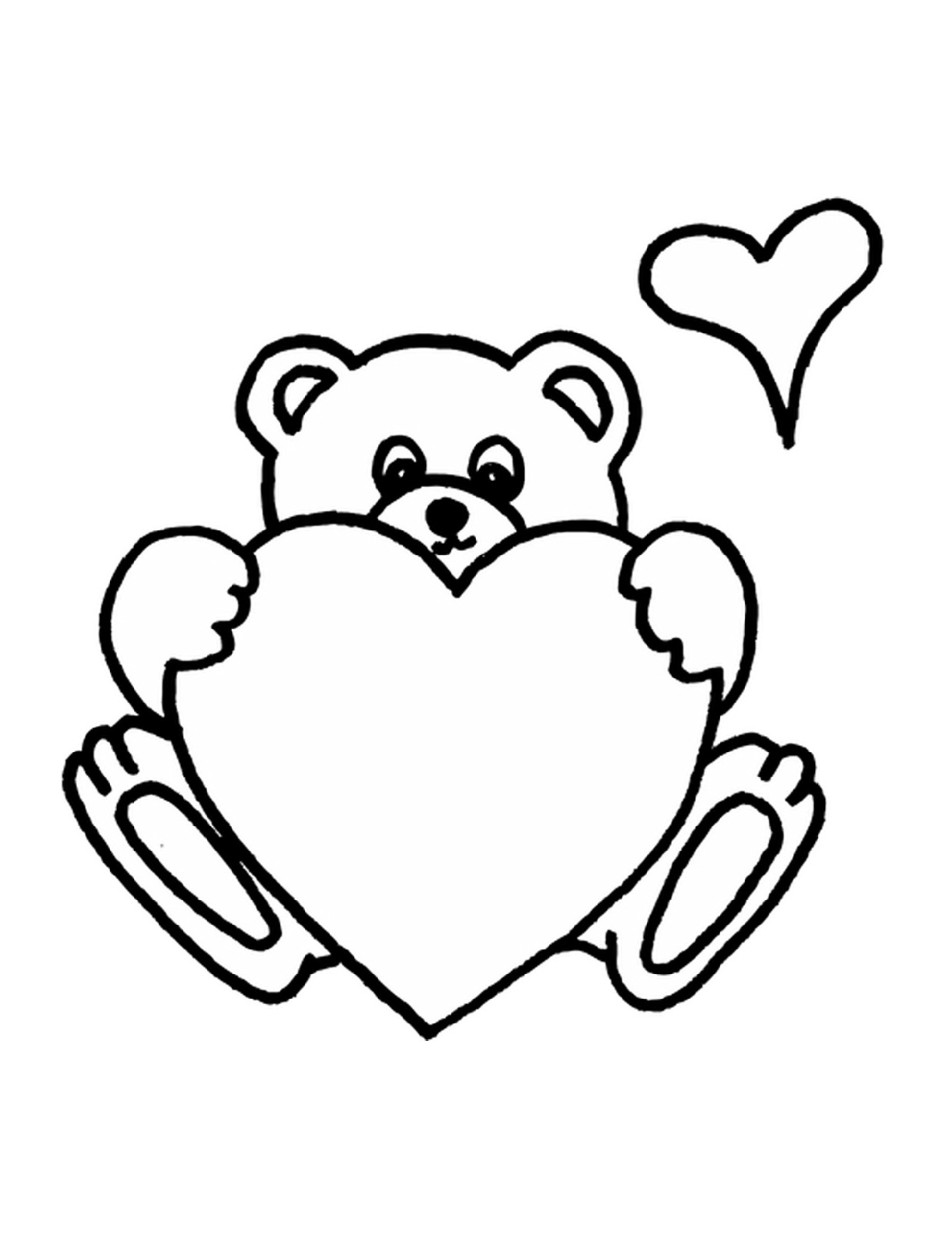 teddy bear coloring pages love
