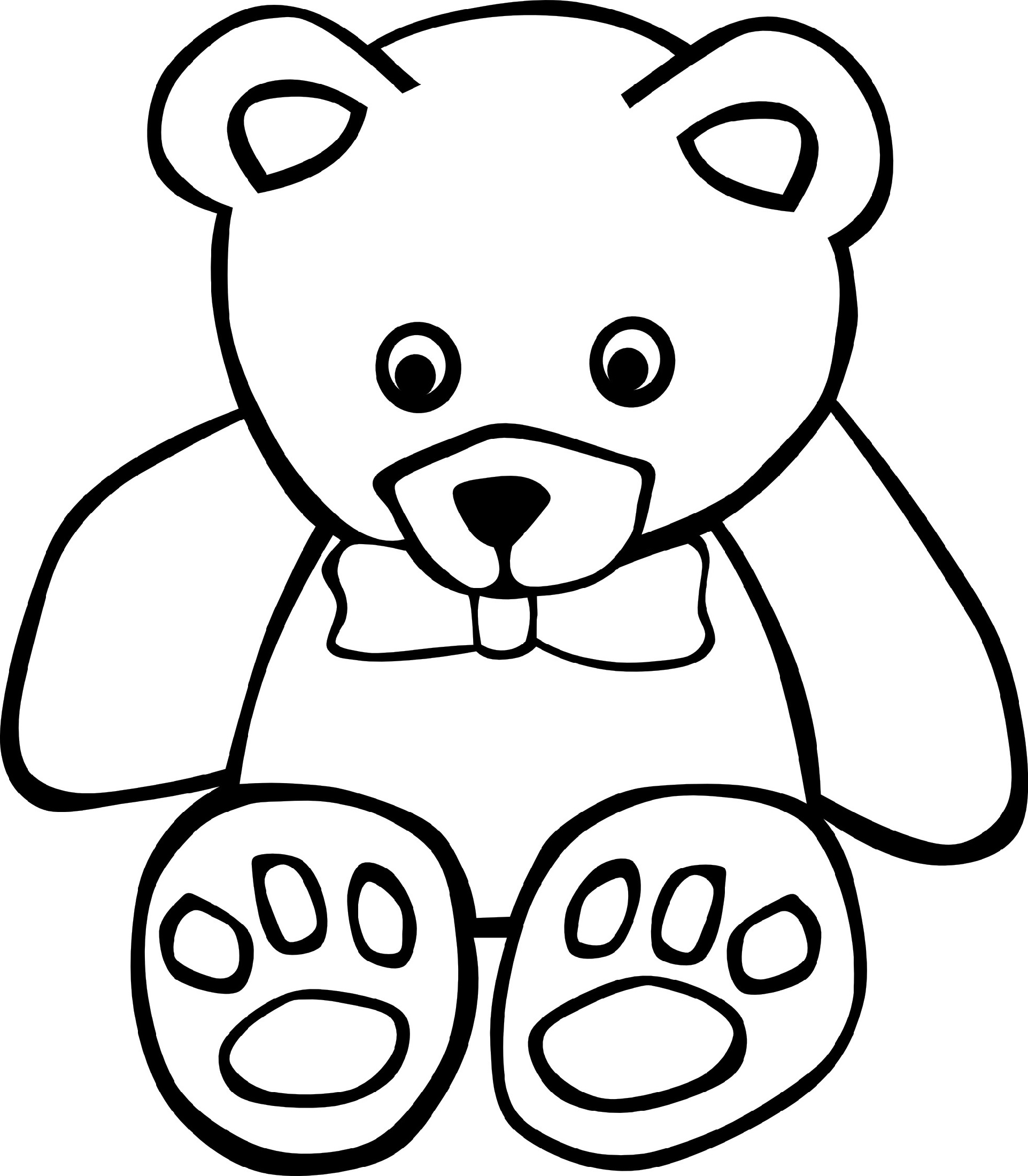 teddy bear coloring pages single
