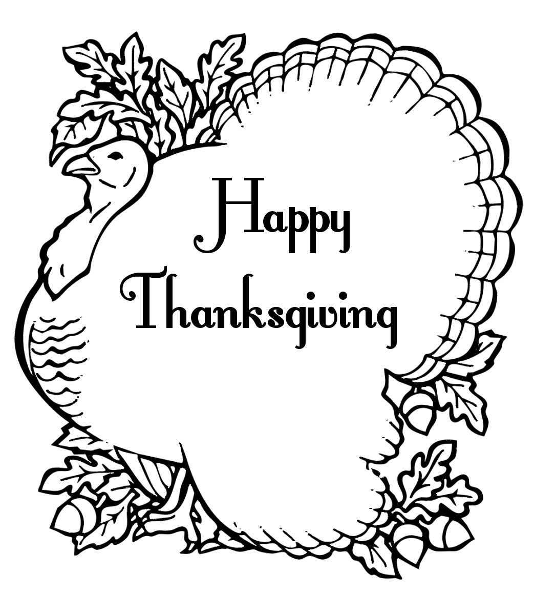 thanksgiving coloring sheets 2