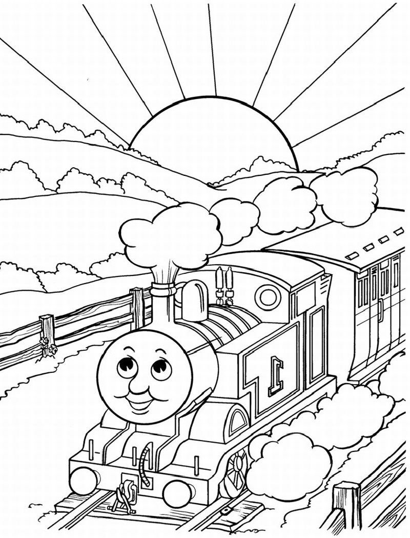 thomas coloring pages one