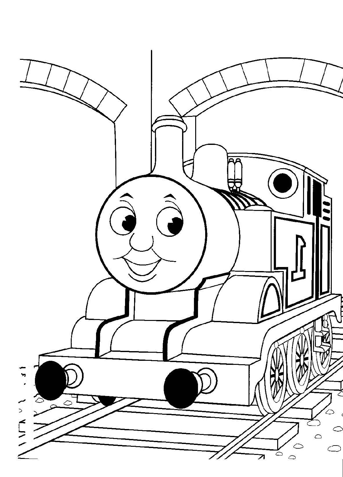 thomas coloring pages three