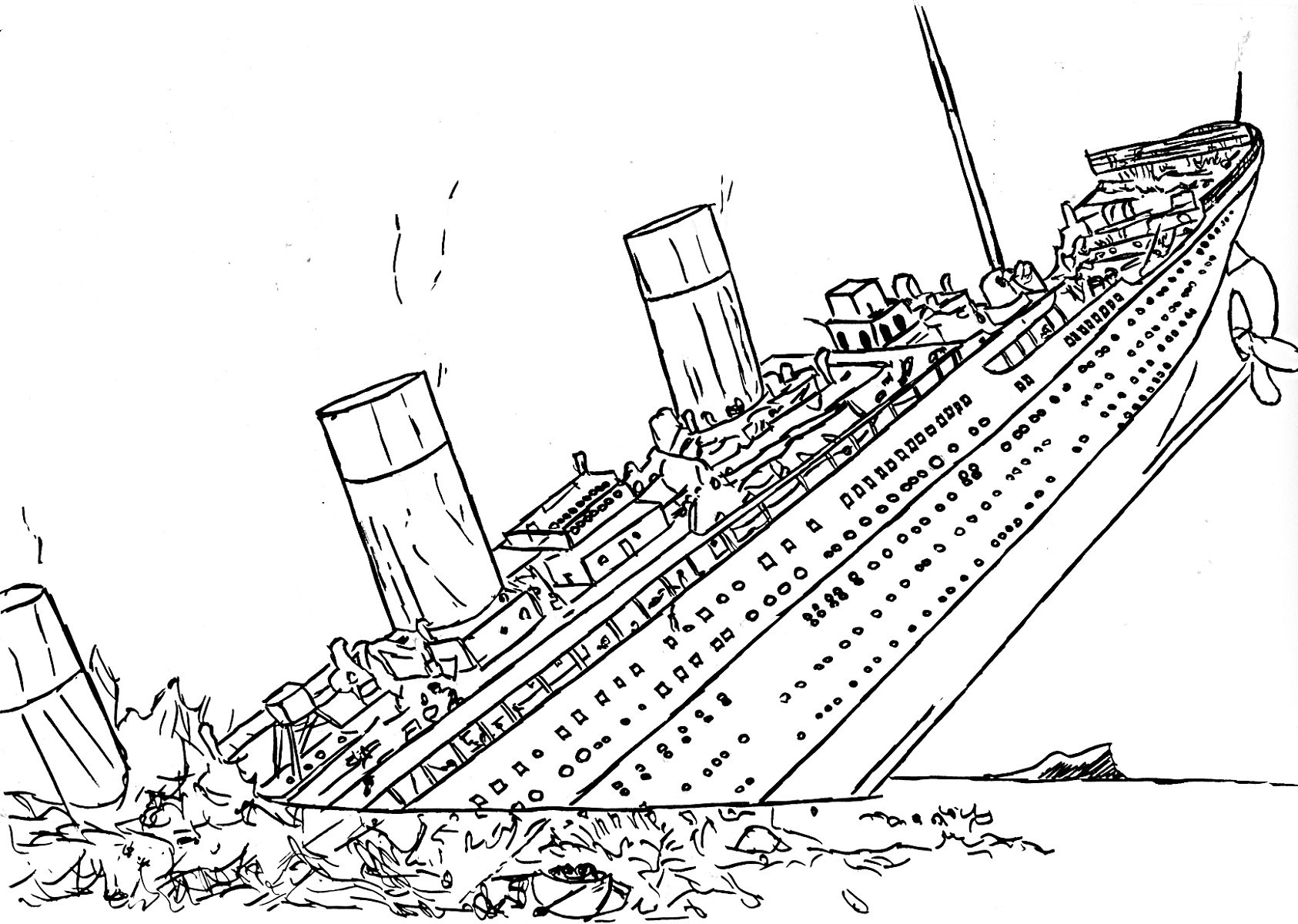 titanic coloring pages titanic sinking