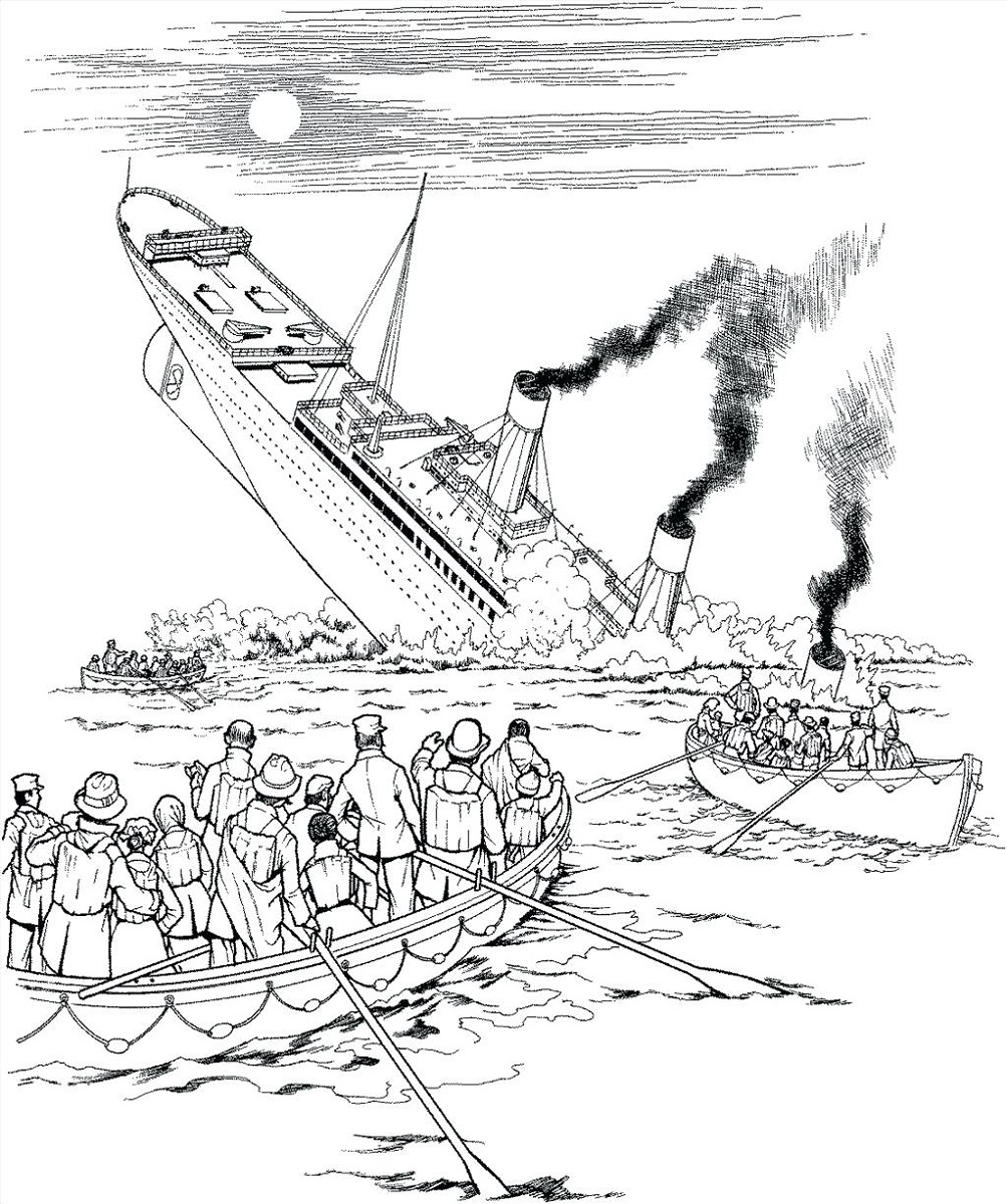 titanic coloring pages titanic tragedy