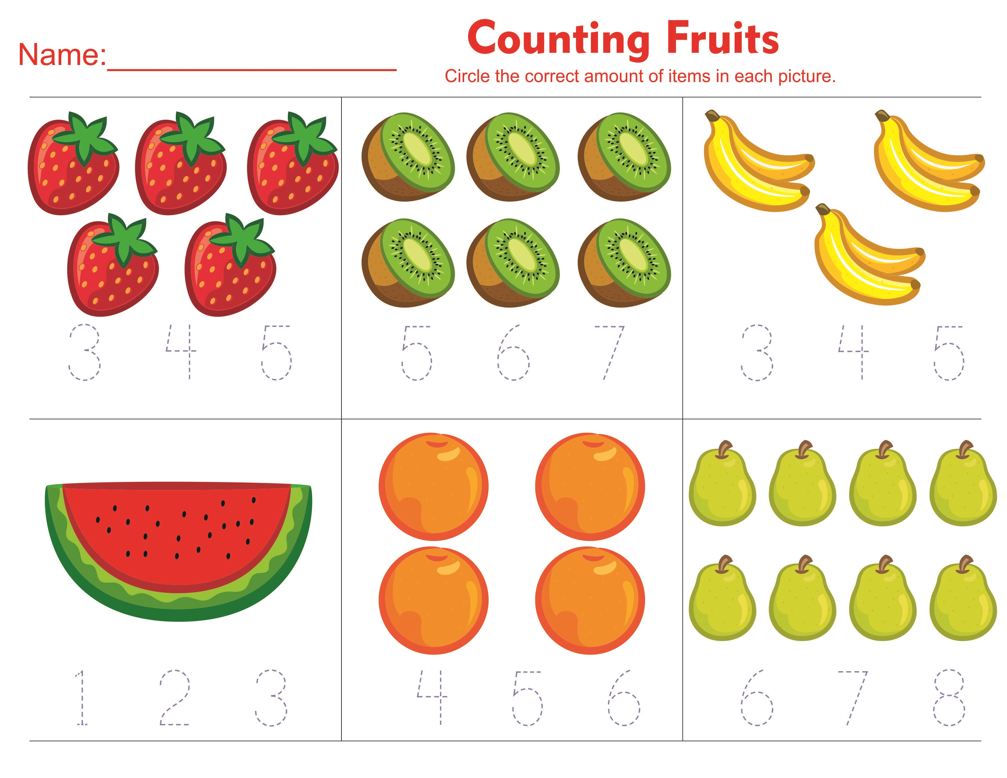 toddler activity worksheets fruit