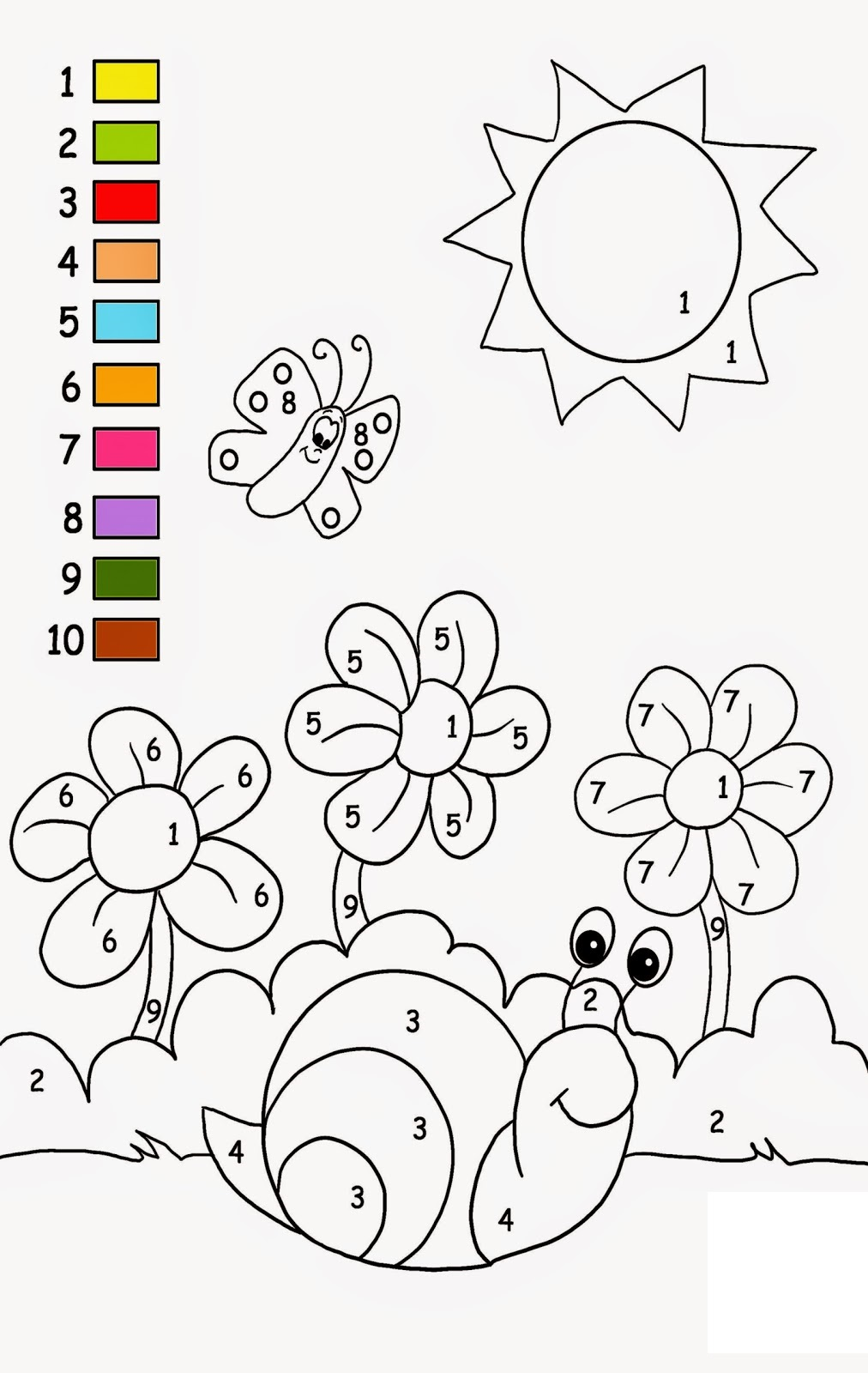 toddler activity worksheets snail