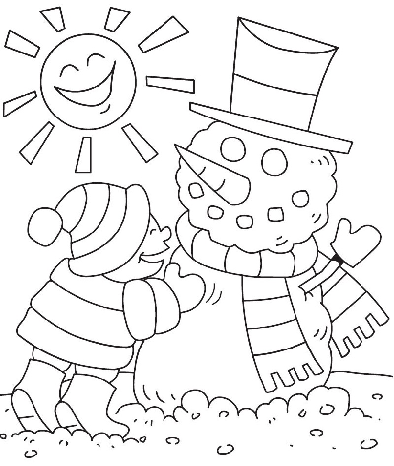 winter coloring pages 1