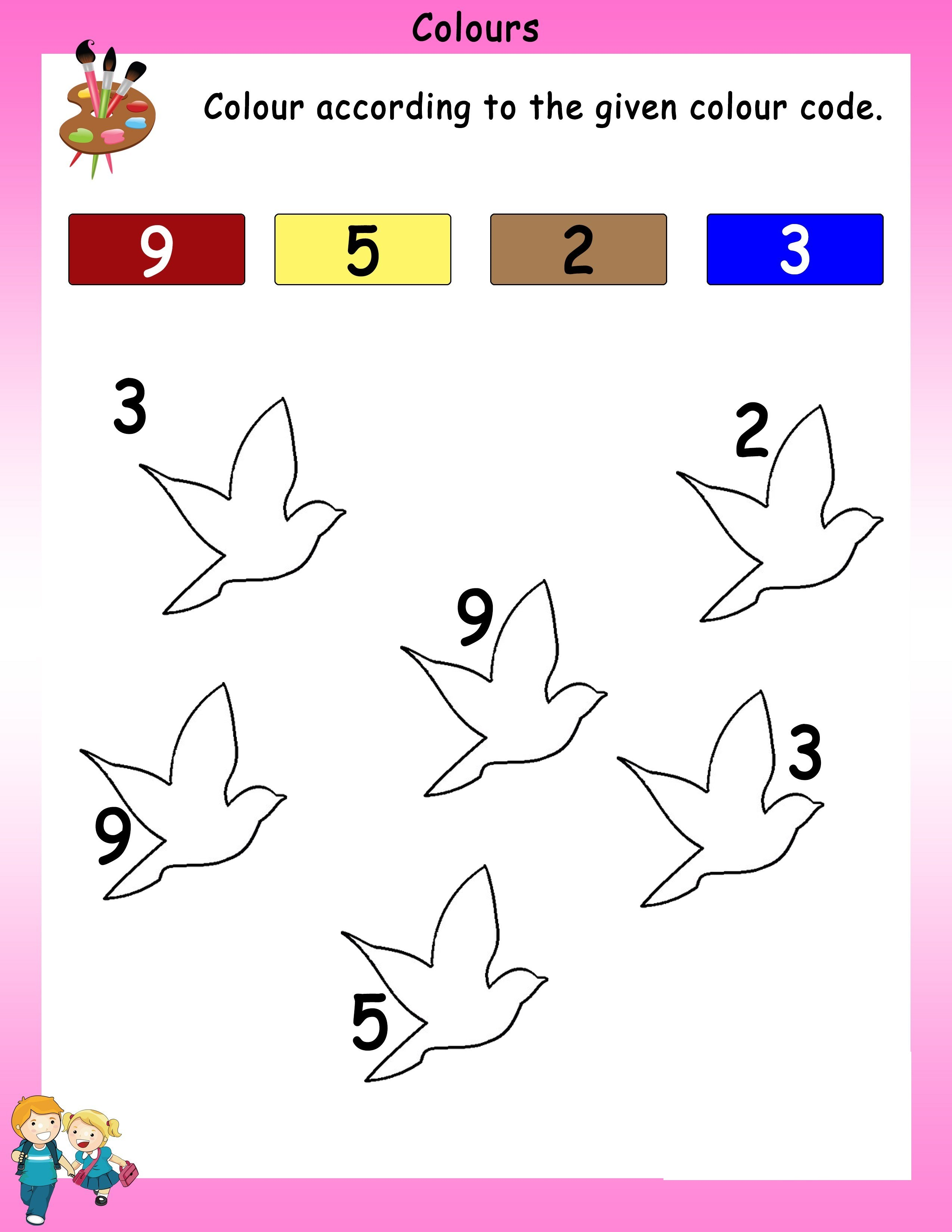 worksheet for nursery bird drawing