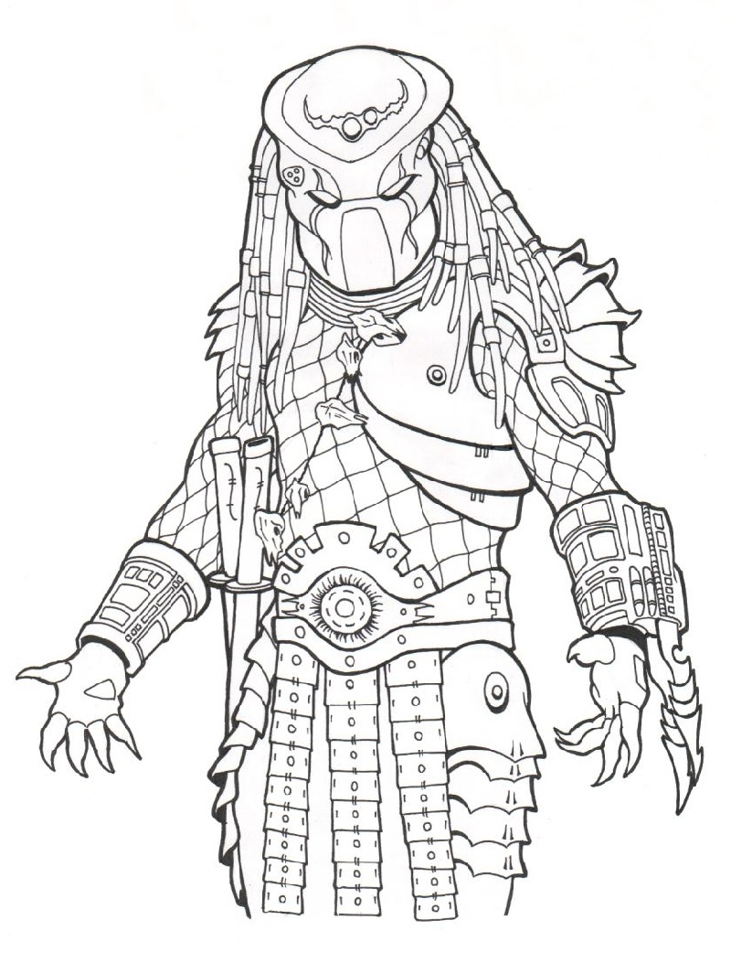Predator coloring pages 1