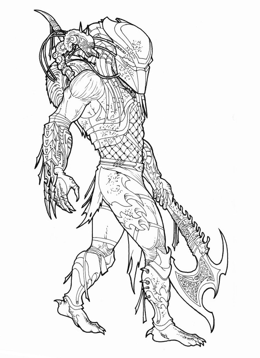 Predator coloring pages 2