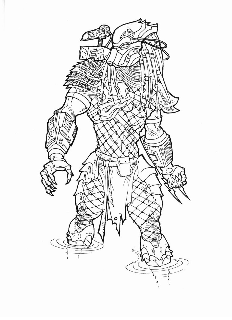 Predator coloring pages 3