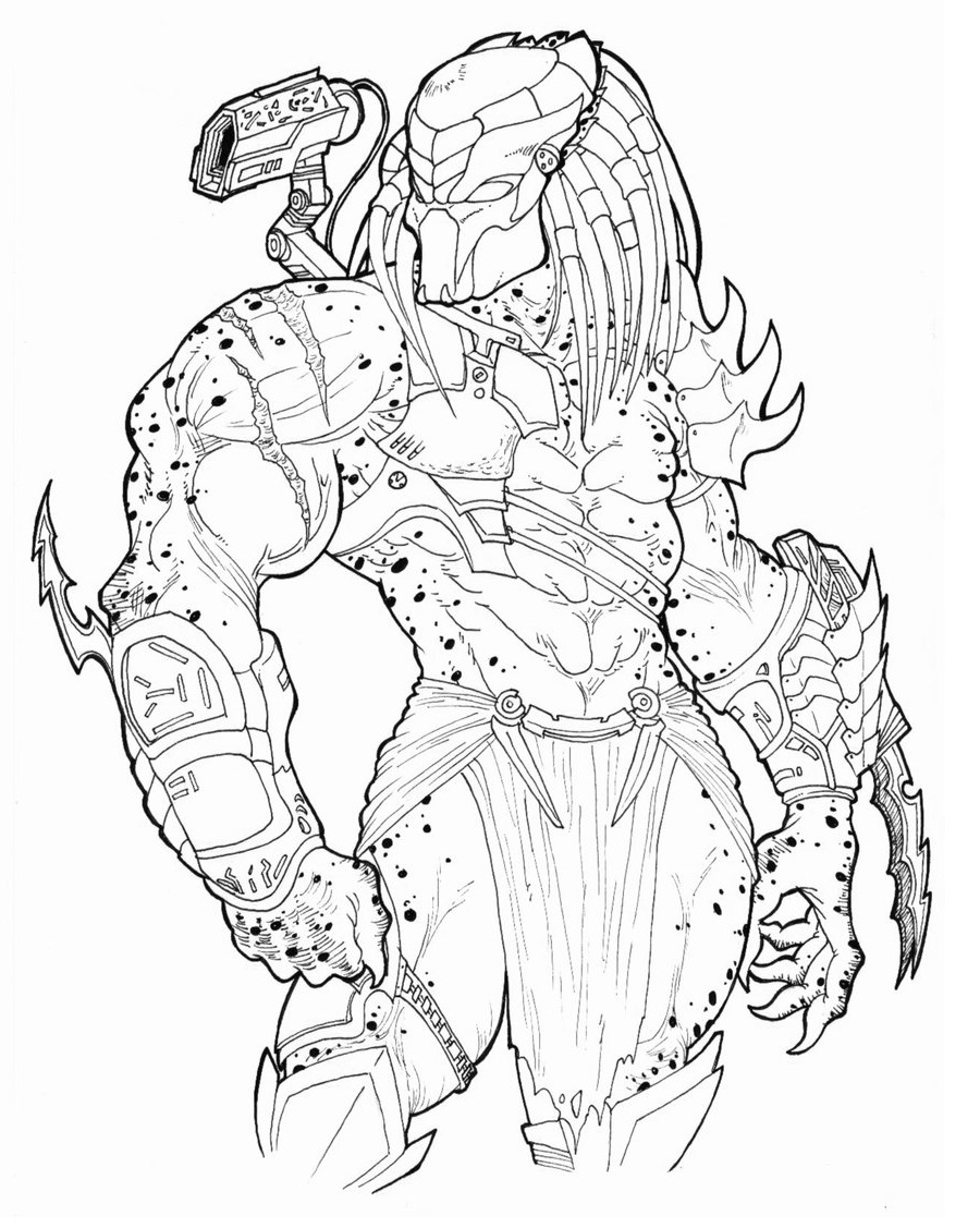 Predator coloring pages 4
