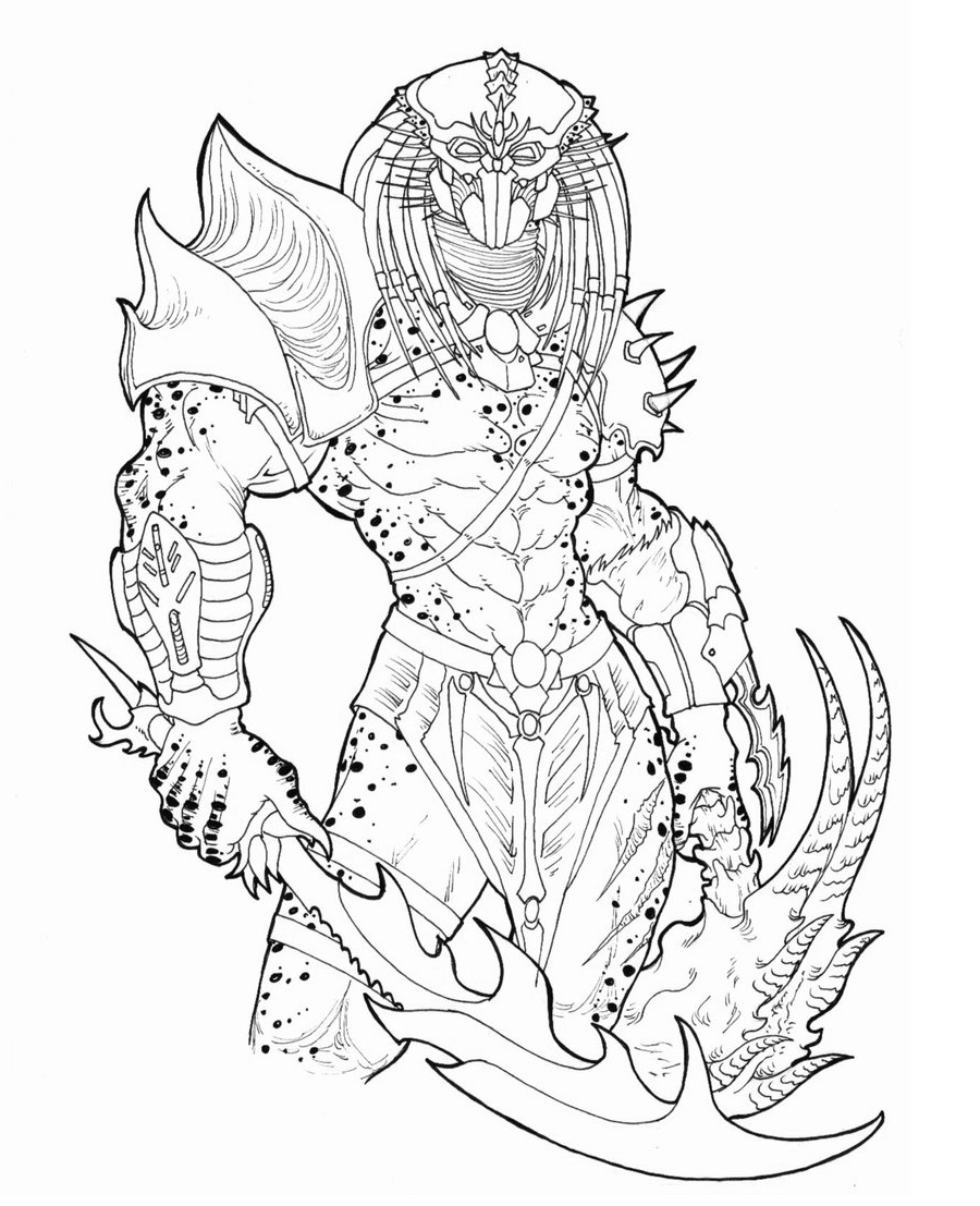 Predator coloring pages 5