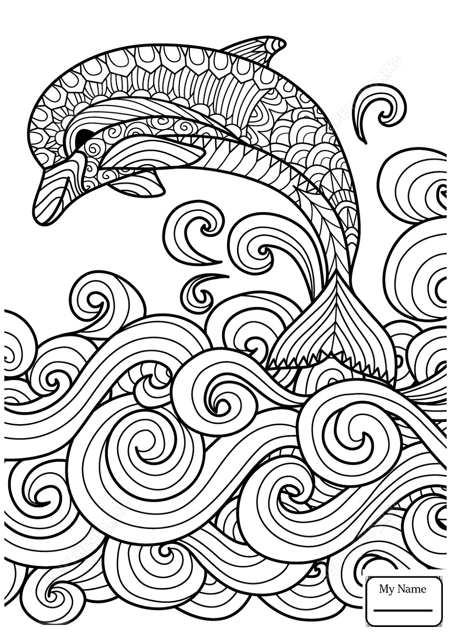 Tribal coloring pages dolphin