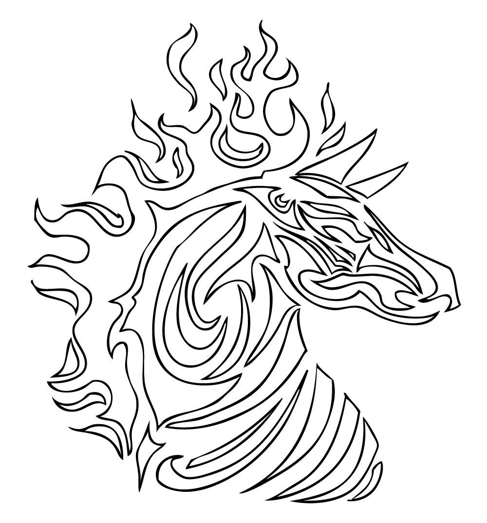 Tribal coloring pages zebra