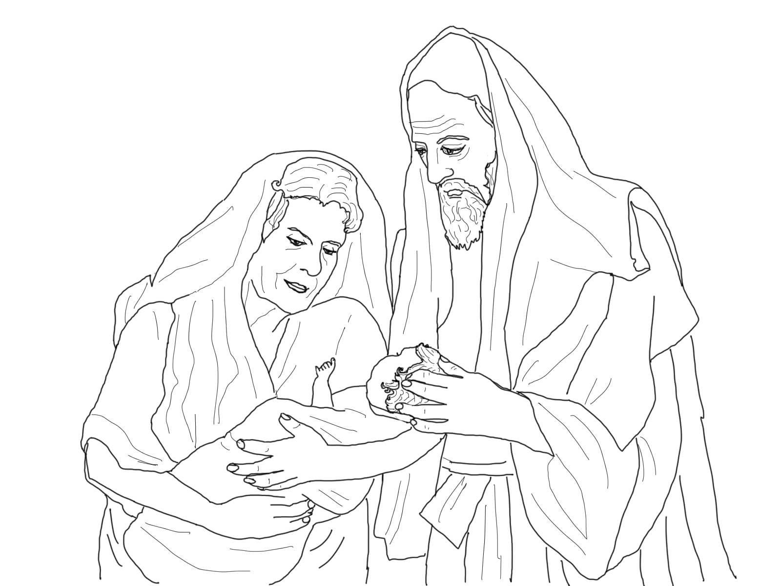 Abraham and Sarah Coloring Pages | Educative Printable