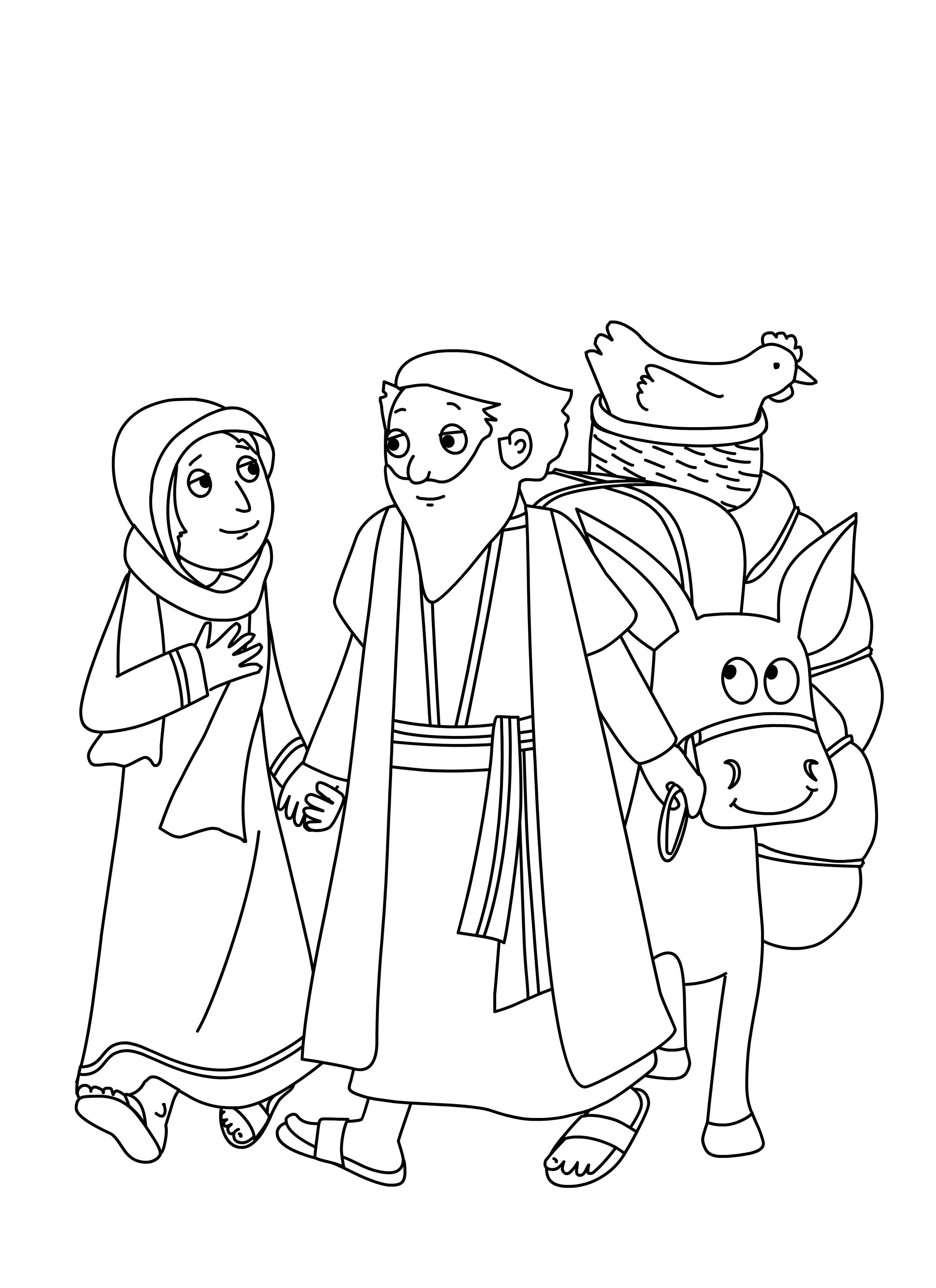 abraham and sarah coloring pages 2