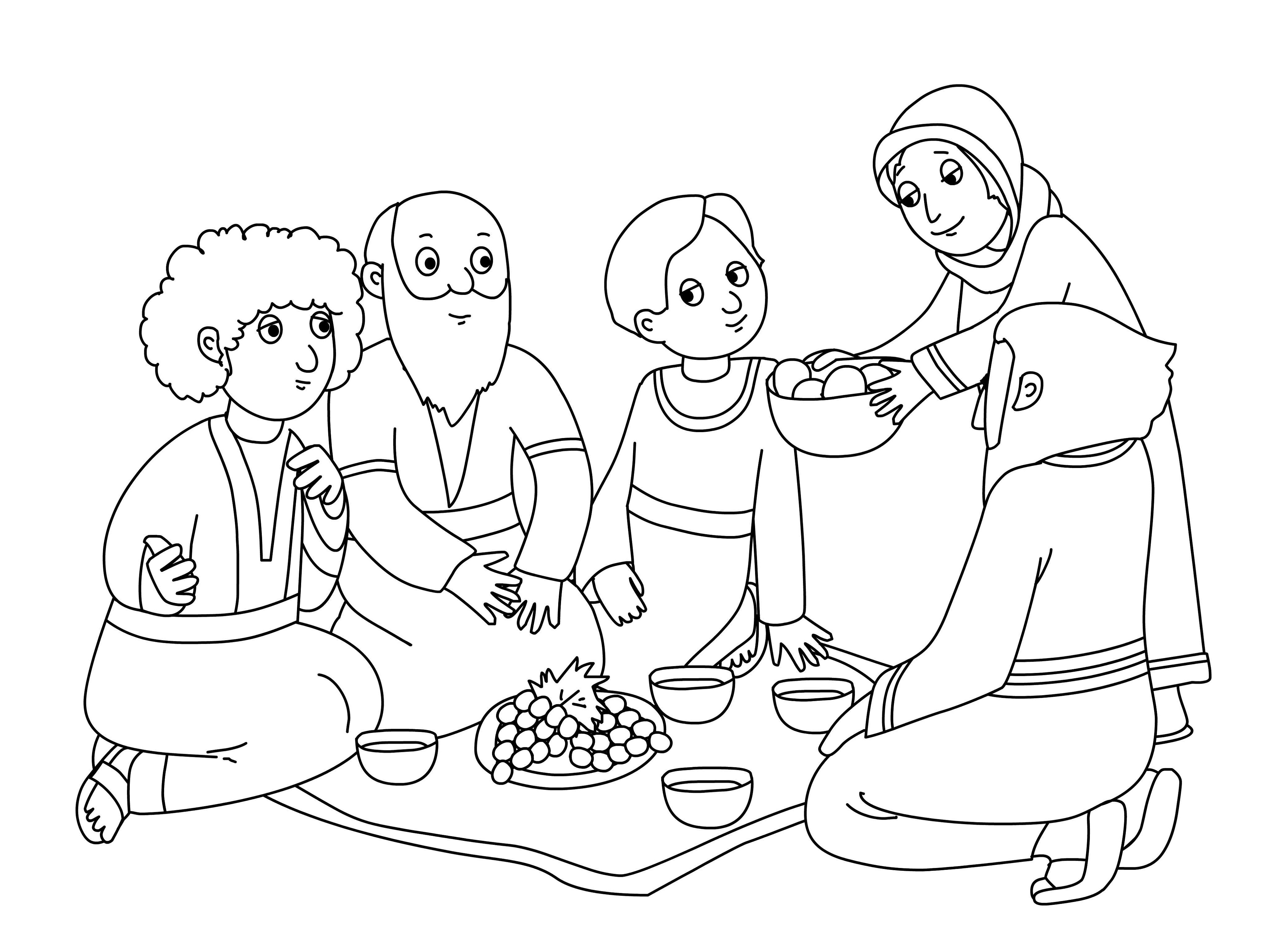 abraham and sarah coloring pages 5