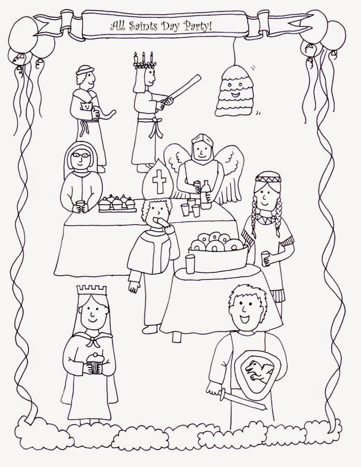 all saints day coloring pages 2
