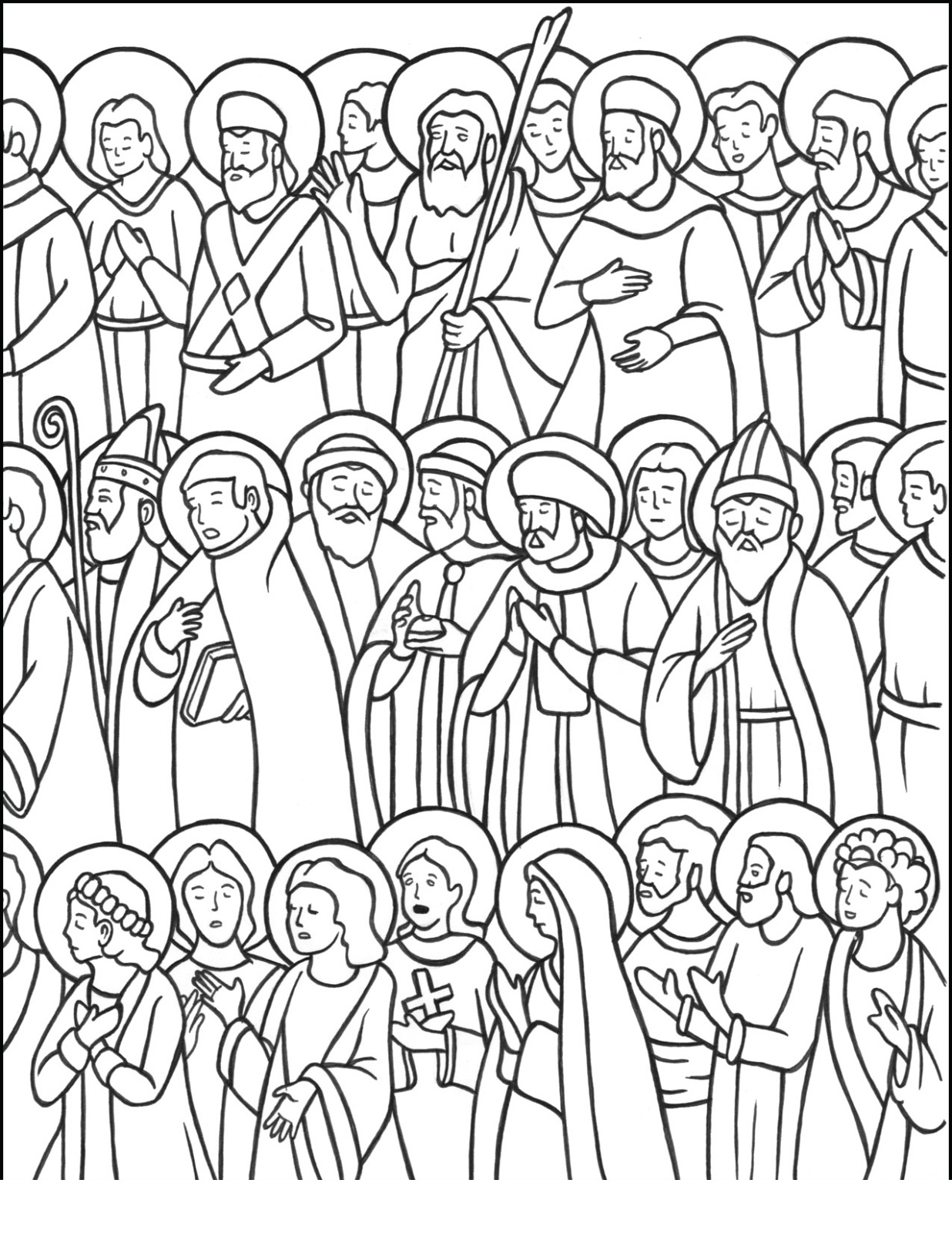 all saints day coloring pages 3