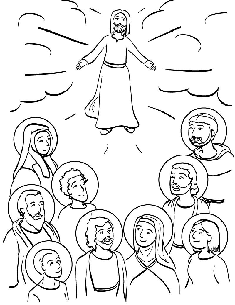 all saints day coloring pages 5